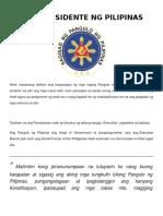 Mga Presidente Ng Pilipinas (1899 - 2016)