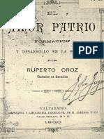 Chile_1900_ El Amor Patrio Formación y Desarrollo en La Escuela.