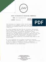 report of evaluation credentials silva