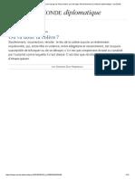 Où Va Donc La Colère _ Du Bon Usage de l'Insurrection, Par Georges Didi-Huberman (Le Monde Diplomatique, Mai 2016)