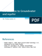 Introduction to Groundwater and Aquifer System