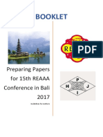 Booklet for 15th Reaaa Conference 2017(1)