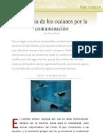 La agonía de los océanos por la contaminación, por Nancy Flores