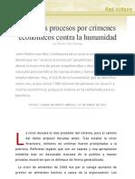 Hacia los procesos por crímenes económicos contra la humanidad, por Xavier Caño Tamayo