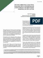 El procedimiento de cobranza coactiva como manifestación de la potestad de la administración pública de ejecución forzosa de sus actos - Jorge Danós Ordoñez.pdf