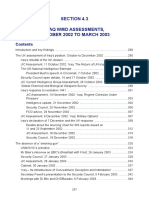 4.3 Iraq's WMD Assessments, October 2002 to March 2003