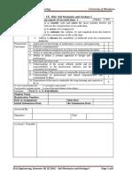 Design Aspects of an Earth Dam-Lab Sheet