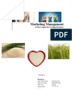 Marketing Management of Three Angels Rice Trading Enterprise