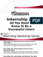 internship 201 workshop video