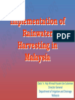 Implementation of Rainwater Harvesting in Malaysia