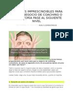 19 Claves Imprescindibles Para Que Tu Negocio de Coaching o Consultoría Pase Al Siguiente Nivel