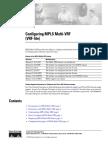 Configuring MPLS Multi-VRF
