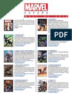 Catalogo Marvel Septiembre
