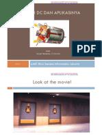 Motor Dc Dan Aplikasinya