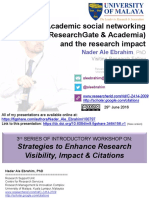 Academic social networking (ResearchGate & Academia) and the research impact