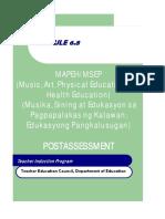 module 6 8 mapeh - post assessment