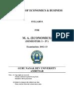 Ma Economics Semester i to IV