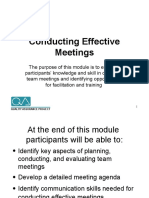 Conducting Effective Meetings Slides