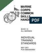 Common Skills Handbook USMC