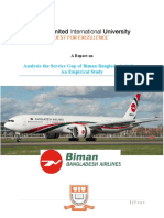 Analysis the Service Gap of Biman Bangladdesh Airlines
