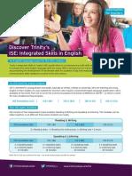 ISE Teacher Factsheet - ESOL-FACS-10 (ISE-01)