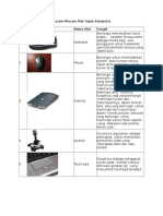 Perangkat Input, Output, Pemrosesan Komputer