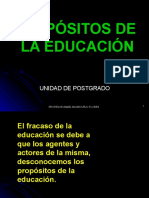 Propositos de La Ed