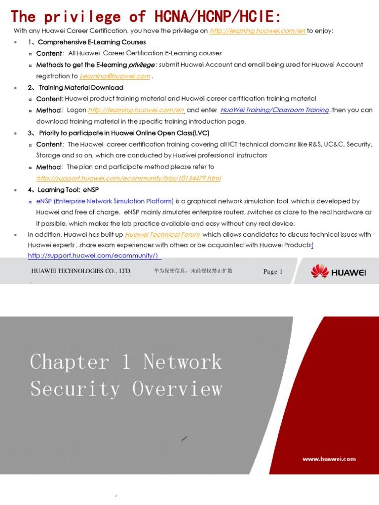 HCNA-Security-CBSN Constructing Basic Security Network Training