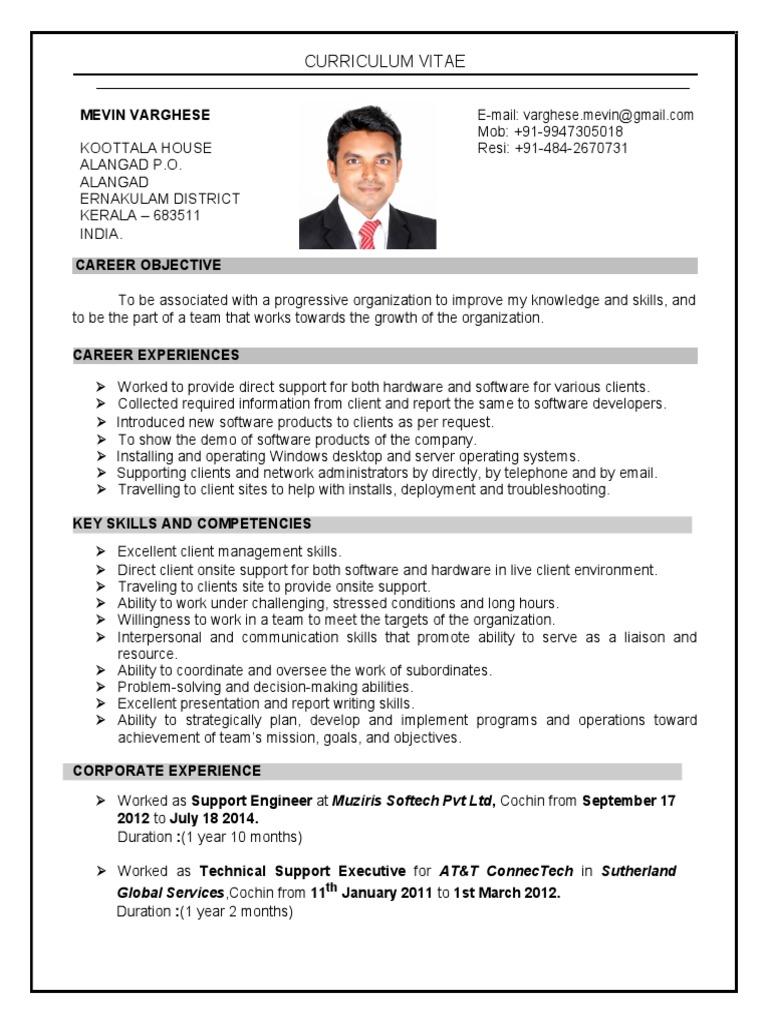 Mevin CV 2016   Kerala   Communication