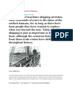 History of Shipping