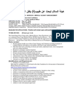 Medical Dr - PCMO Job Announcement Peace Corps