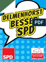 Plakat 1 der SPD Delmenhorst zur Kommunalwahl 2016