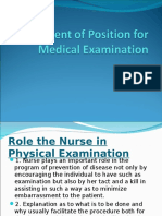 Different of Position for Medical Examination