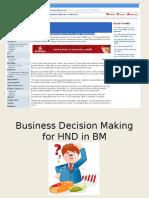 Lec 01 - Business Decision Making