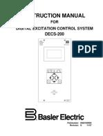Basler DECS-200 Instruction Manual