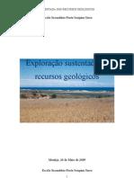 Exploração sustentada de recursos geológicos