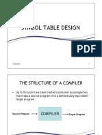 Symbol Table Design