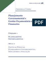 Planejamento Governamental Unidade 1 Aula1