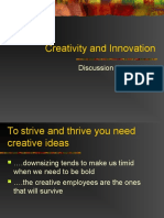 Creativity and Innovation Part I
