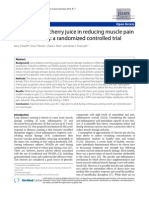 Efficacy Tart Cherry Juice in Reducing Muscle Pain During Running