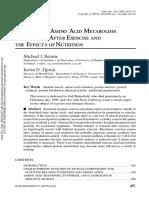 Protein Metabolism Exercise