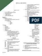 Critical Care Nursing Notes 1