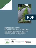 Metodología Para El Inventario Del Patrimonio Cultural Inmaterial en Las Reservas de La Biosfera