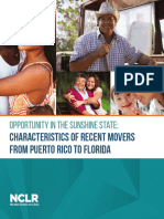 Characteristics of Recent Movers from Puerto Rico to Florida