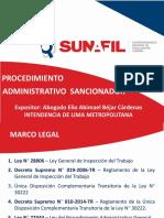 """Presentación """"Procedimiento Sancionador"""""""