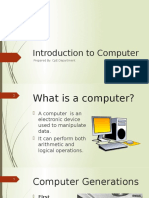 Introduction to Computer
