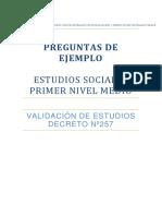 Primer Nivel Medio Preguntas Para Liberar 2016 Ciencias Sociales Ve257 Nm1