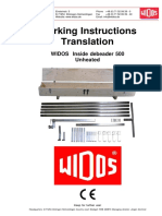 WIDOS Plastic Welding Weld Seam Processing Inside Debeader 500