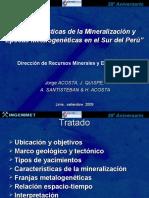 caracteristicasdelamineralizacionepocasmetalogenicasenelsurdelperu-120413171800-phpapp02.ppt