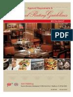 Restaurant Diamondratings Guidelines